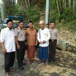 Kapolsek junrejo beserta anggota takziah kepada tokoh Agama Desa Junrejo