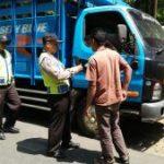 Kapolsek Ngantang Polres Batu Memimpin Cipta Kondisi  di Pagersari