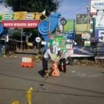 Satlantas Polres Batu Berlakukan Mode One Way Traffic System di Dewi Sartika