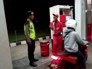 Anggota Satsabhara Polres Batu Laksanakan Giat Patroli Malam Guna Pengamanan Obyek Vital Dan Jalur Rawan