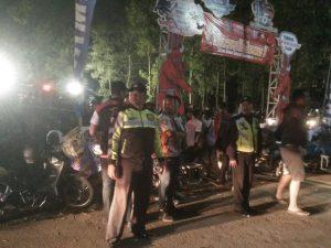 Polsek Bumiaji Polres Batu Lakukan Pengamanan Jambore Nasional di Coban Talun