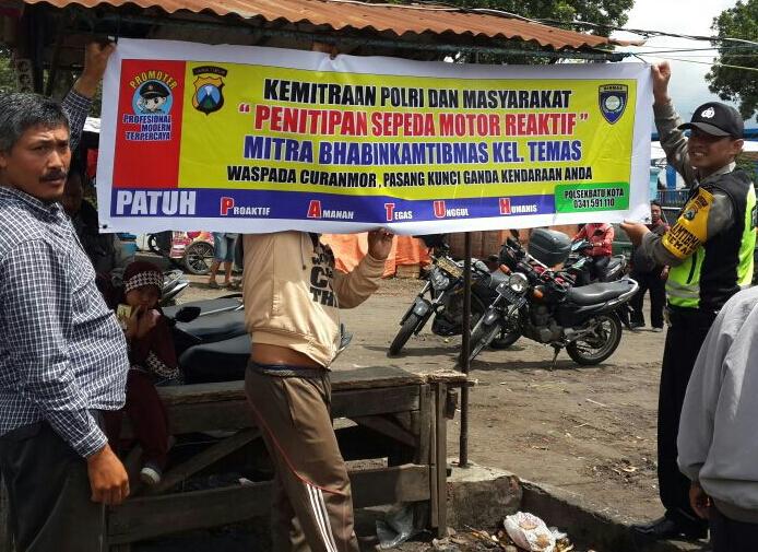 Kemitraan Polisi Dan Masyarakat Penitipan Sepeda Motor Reaktif Mitra Bhabinkamtibmas Temas Polsek Batu Polres Batu
