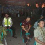Polsek Junrejo Polres Batu Lakukan Pengamanan Nonton Bareng Juga Berikan Himbauan Kamtibmas