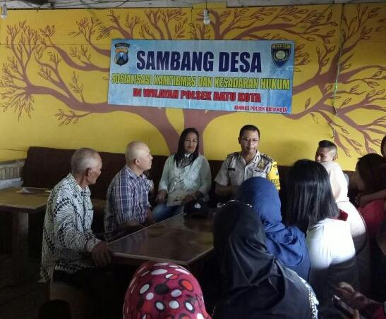 Giat Sambang, Anggota Bhabin Polsek Batu Polres Batu Tatap Muka Bersama Warga Binaanya