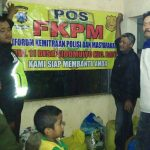 Patroli Pemasangan Benner, Anggota Polsek Batu Polres Batu Patroli Ke Pos FKPM