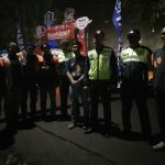 Kegiatan Binluh, Anggota Polsek Bumiaji Polres Batu Melaksanakan Pengamanan Kegiatan Malam Hari