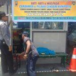 Anggota Polsek Batu Polres Batu Giatkan Patroli Pasang Benner Jaga Kamtibmas Kondusif