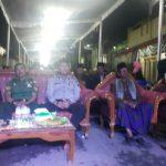 Anggota Bhabin Polsek Junrejo Polres Batu, Patroli Menjaga Keamanan Acara Warga Binaanya