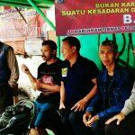Anggota Bhabinkamtibmas Polsek Batu Kota Polres Batu Berikan Himbauan dan Penyuluhan Kepada Tukang Ojek Pelopor Keselamatan Berlalu Lintas