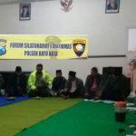 Giat Binluh, Kamtibmas Binmas Polsek Batu Polres Batu Bersilaturohmi Forum Warga Songgoriti