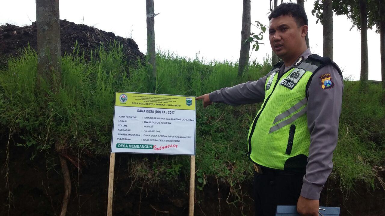 Polsek Bumiaji Polres Batu Kunjung Kemitraan Dengan Kasi Kesejahteraan Dalam Penggunaan Dana Desanya