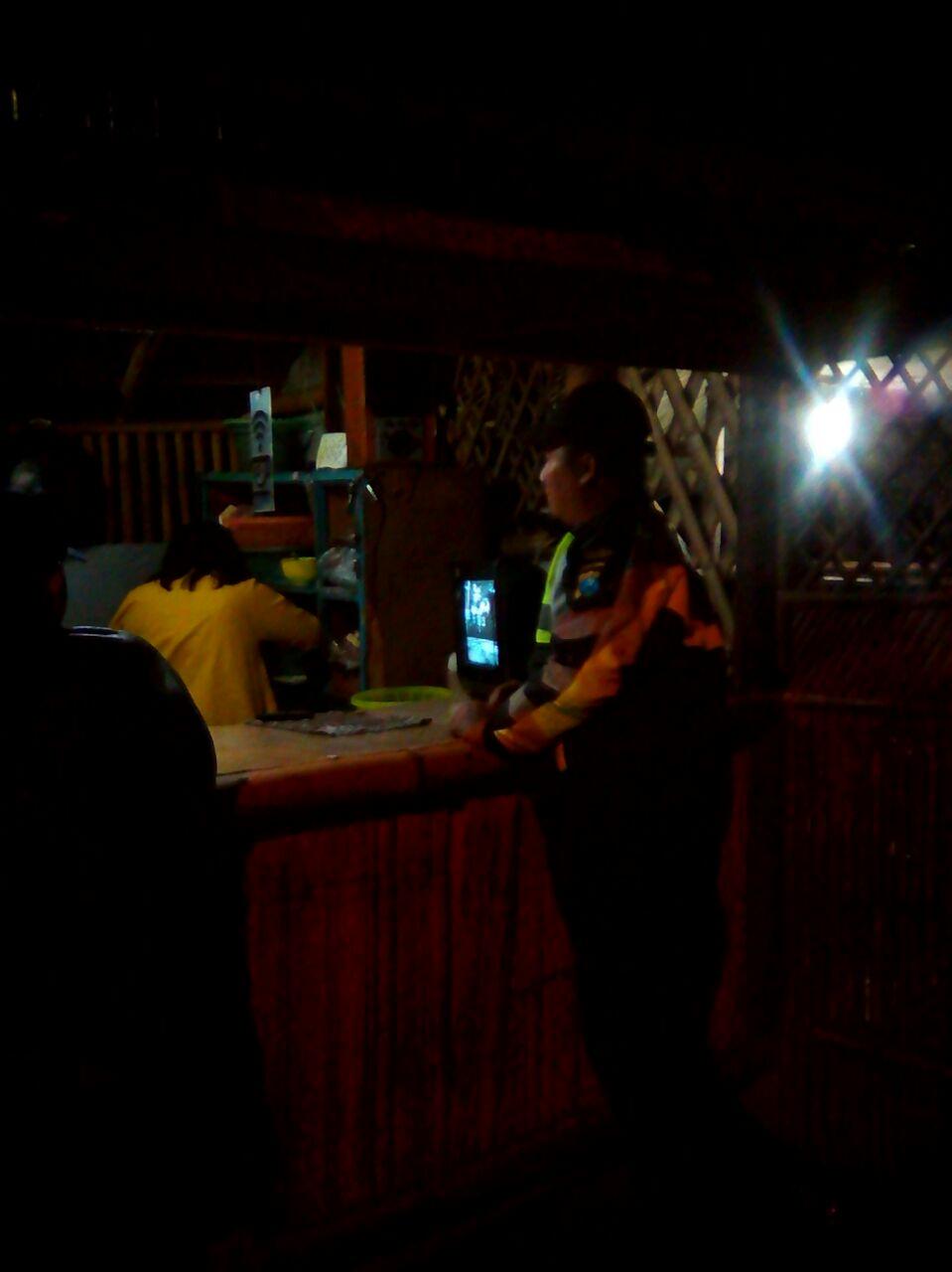 Patroli Mitra Polsek Bumiaji Polres Batu Pada Malam Hari