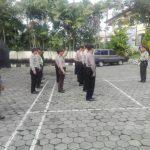 Guna Meningkatkan Kedisiplinan, Anggota Polsek Junrejo Polres Batu Melaksanakan apel pagi sebelum awali tugas.