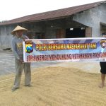 Brigadir Anton Bersinergi dengan Petani Binmas Polsek Batu Kota Polres Batu Mendukung para petani