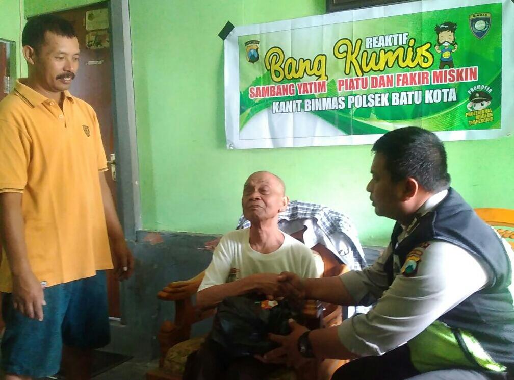 Kanit Binmas Polsek Batu Polres Batu Sambang Yayasan Yatim Piatu Wilayah Nyaman