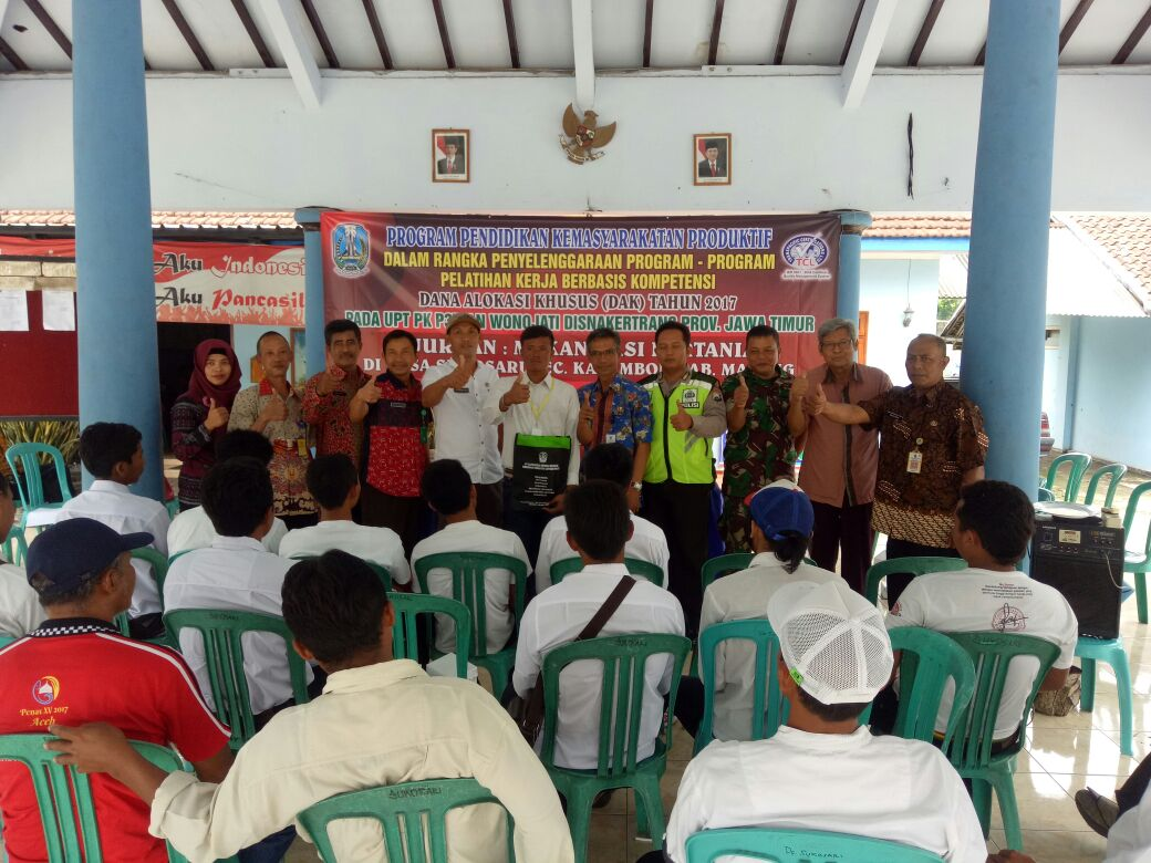 Bhabinkamtibmas Polsek Kasembon Polres Batu menghadiri undangan pelatian kerja berbasis kopetensi.