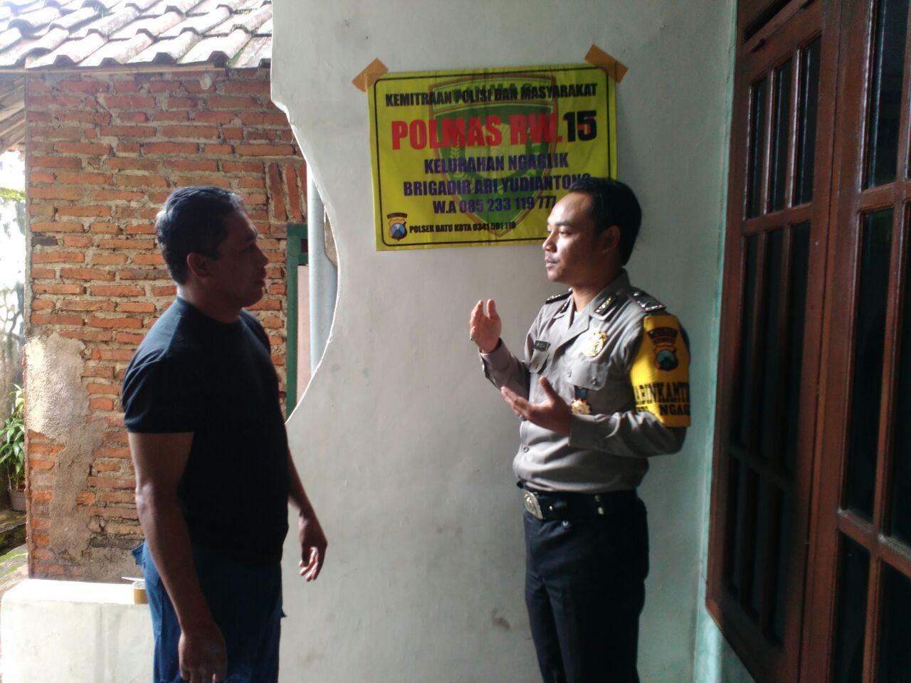 Polmas Rw 15 Kel Ngaglik Implementasi Pemolisian Masyarakat Mitra Bhabin Polsek Batu Polres Batu