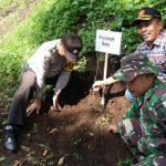 Menjaga Keasrian Hutan Kota Batu, Anggota Bhabin Polsek Batu Bersama 3 Pilar Giat Penghijuan Pelestarian Hutan