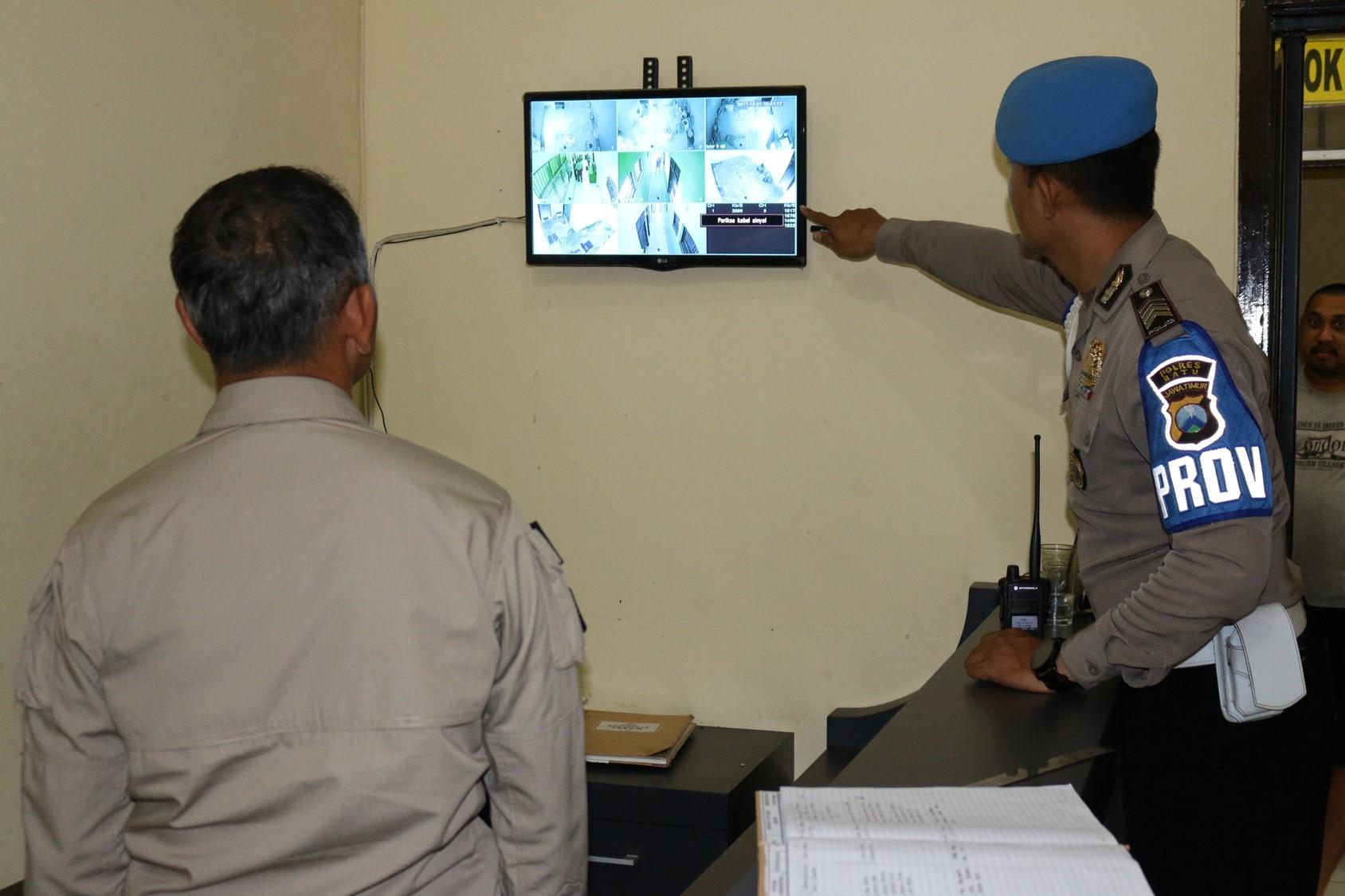 Polres Batu Tingkatkan Keamanan Mako Kontrol Tahanan
