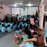 Anggota Polsek Ngantang dan Ps. Kanit Intelkam Polsek Ngantang Polres Batu melaksanakan Pengamanan giat Ibadah di Gereja GKJW
