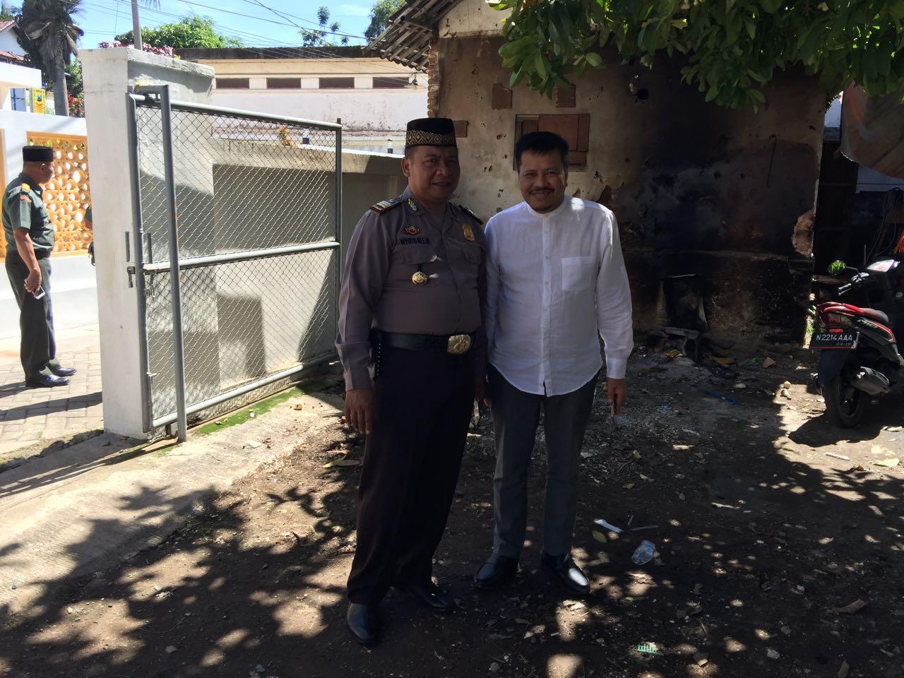 Kapolsek Bumiaji Polres Batu Menghadiri Peresmian Masjid Dr Oesman Punten Bumiaji