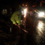 Responsif, Polsek Pujon dan Satlantas Polres Batu Tanggap Bencana Alam