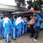 Mobil Pintar Polres Batu Laksanakan Giat Sosial Dengan Berkeliling ke Sekolah dan Transit di SMA Negri 3 Kota Batu