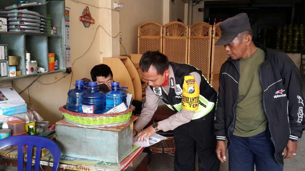 Bhabin Polsek Batu Polres Batu Sambang ke Agen Toko LPG