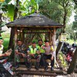 Bhabin Desa Pendem Polsek Junrejo Polres Batu laksanakan Ngopi Bersama  Babinsa.