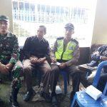 Polres Batu Jalin Sinergi Bhabin Madirejo Polsek Pujon Polres Batu Bersama TNI Menghadiri Giat Warga Madirejo