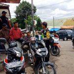 Sambang Kemitraan Bhabinkamtibmas Temas Polsek Batu Kota Polres Batu Kepada Kelompok Ojek Batu