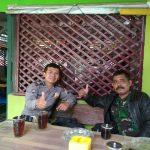 Bhabinkamtibmas Pendem Polsek Junrejo Polres Batu Melaksanakan Giat Coffee Morning Bersama Babinsa