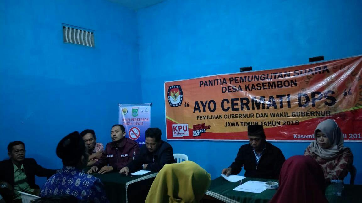 Bhabin Polsek Kasembon Polres Batu Menghadiri Undangan PPS
