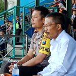 Kapolres Batu memimpin Pengamanan Pertandingan Sepakbola Persikoba Dengan Arema