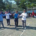Jalin sinergritas 3 pilar kecamatan Junrejo Polres Batu Adakan Senam Bersama Warga