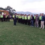 Kabag Ops Polres Batu Memimpin Apel kesiapan Pengamanan Hiburan di Lapangan Agro Kusuma Batu