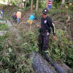 Begini Serunya Ketika Tiga Pilar Polres Batu, Desa , TNI  Kerja Bakti Bareng
