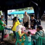 Lakukan DDS Bhabinkamtibmas Desa Junrejo Polsek Junrejo Kota Batu memberikan himbauan kepada penjual Takjil