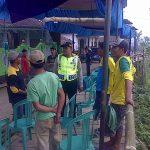Bhabinkamtibmas Polsek Pujon Polres Batu Sambang Tokoh Pemuda Dusun Bakir