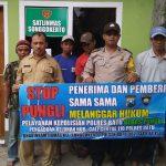 Bhabinkamtibmas Kelurahan Songgokerto Polsek Batu Kota mendukung kegiatan Polres Batu menuju Zona Integritas
