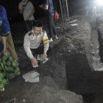 Bhabin Desa Pendem Polsek Junrejo Polres Batu hadiri peletakan batu pertama  pembangunan Ponpes Mafatihul Muhtadin  Tahfis Putri.