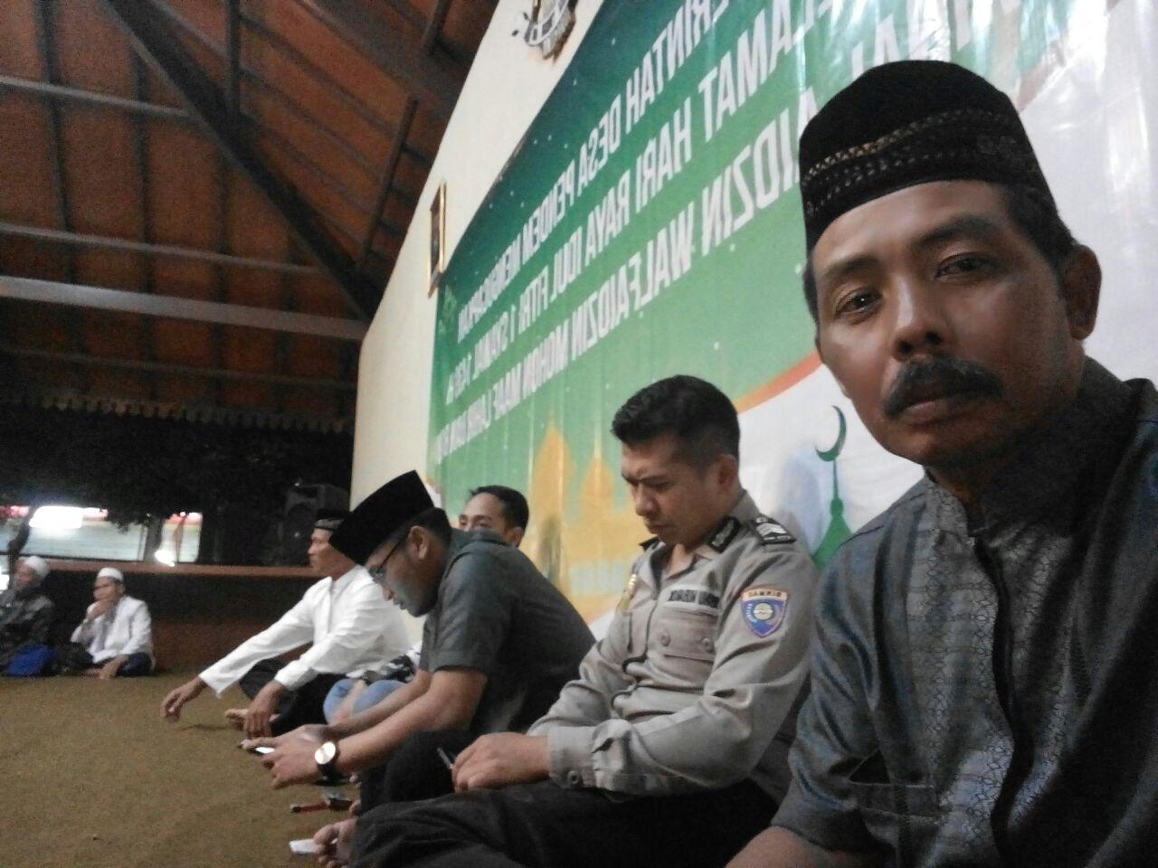 Bhabin desa Pendem Polsek Junrejo Polres Batu hadiri halal bihalal toga tomas toda dan karang taruna se-desa Pendem