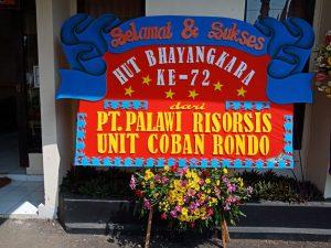 Ucapan Selamat Hut Bhayangkara Ke 72 Berupa Karangan Bunga Yang Terjejer Di Depan Mako Polres Batu Website Kepolisian Resort Batu