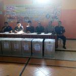 Rapat pleno rekapitulasi penghitungan suara pilgub jatim 2018 yg dilaksanakan di Gedung Serba Guna kecamatan Ngantang