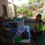 Laksanakan Silaturahmi Kamtibmas , anggota Bhabinkamtibmas Kelurahan Ngaglik Polsek Batu Kota Polres Batu Sampaikan Pesan Kamtibmas