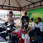 Giatkan Patroli Sambang dan DDS , Tingkatkan Pengamanan Bhabinkamtibmas Kelurahan Temas Polsek Batu Kota Polres Batu Sambang Tempat Parkir
