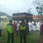 Giat Pengamanan Kegiatan dan berikan layanan kepada masyarakat, Kanit Sabhara Polsek Ngantang Polres Batu Pengamanan Latihan Manasik Haji