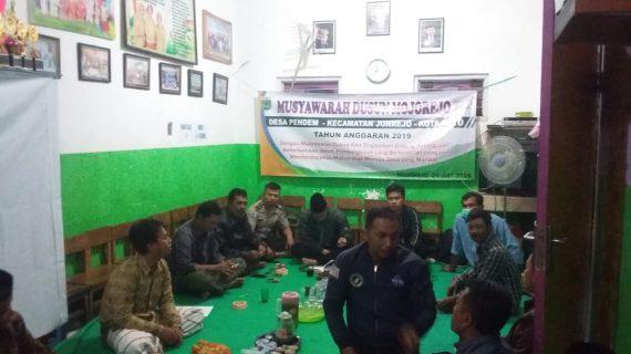 GIAT Musyawarah Desa, Anggota Bhabinkamtibmas Desa Pendem Polsek Junrejo Polres Batu Hadiri Musyawarah Dusun Mojorejo Desa