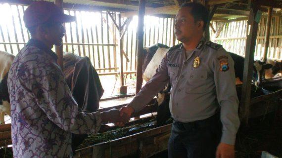 Program DDS tetap dilaksanakan oleh anggota Bhabinkamtibmas Desa Oro Oro Ombo Polsek Batu Kota Polres Batu