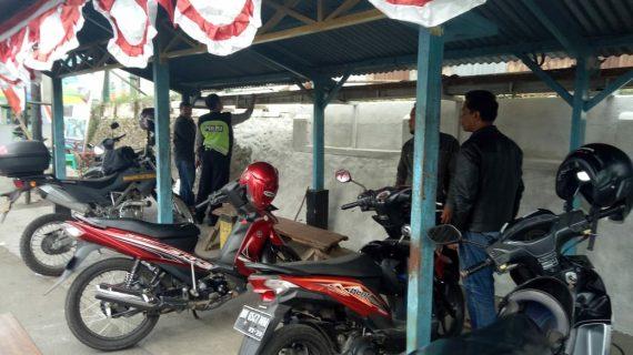 Bhabinkamtibmas Desa Oro Oro Ombo Polsek Batu Kota Polres Batu Sambut HUT R.I Ke 73